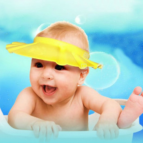 5pcs lot Adjustable Shower caps protect Shampoo for baby health Bathing bath waterproof kid children Wash