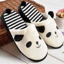 Girseaby милые женские Мультяшные тапочки-панды, домашние Мягкие плюшевые тапочки, женская домашняя обувь, теплая зимняя обувь для девушек, ...(Китай)