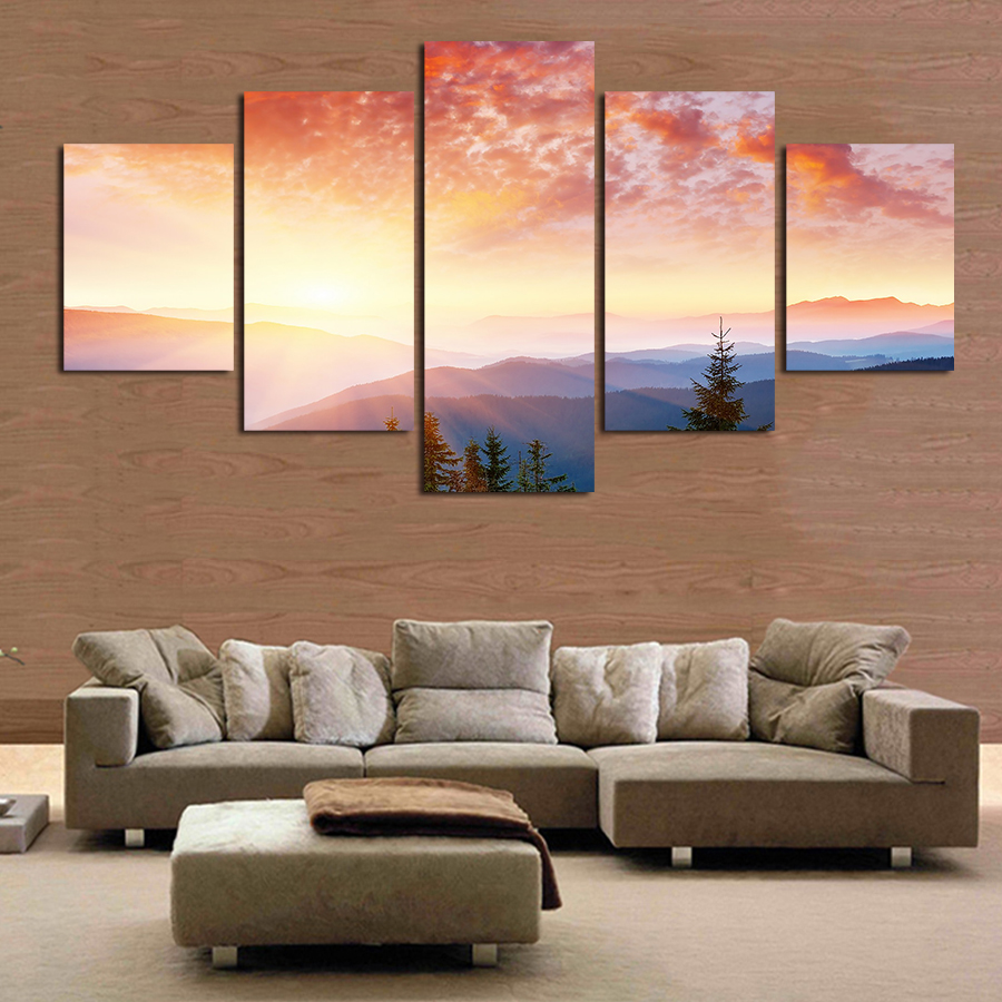 2016 Real Fallout High Quality Plane Seacape Beach Sunset Canvas Print Painting Wall Art Picture Home Decoration Living Room