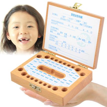 Free shipping Retail 1pc handmade wooden Baby Tooth Case Album baby Birthday Gift Children s teeth
