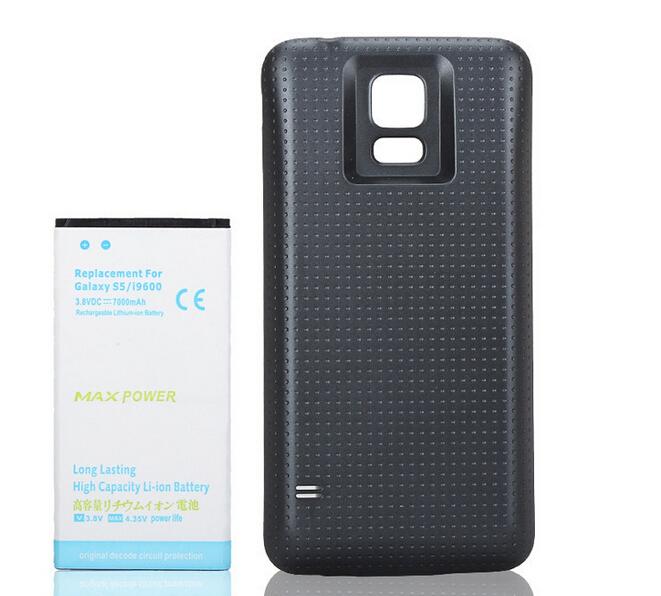 7000 мАч большой емкости S5 аккумулятор телефон внешний аккумулятор для Samsung Galaxy S5 i9600 с крышкой