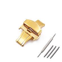 Аксессуары для часов из нержавеющей стали, автоматическое двойное давление, пряжка-бабочка, кожаная пряжка для Tissot cool map T035.407(Китай)
