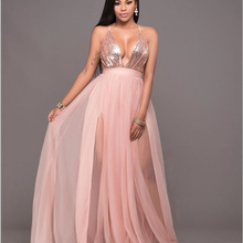 7390ea05f450d Buy maxi dress pink and get free shipping on AliExpress.com