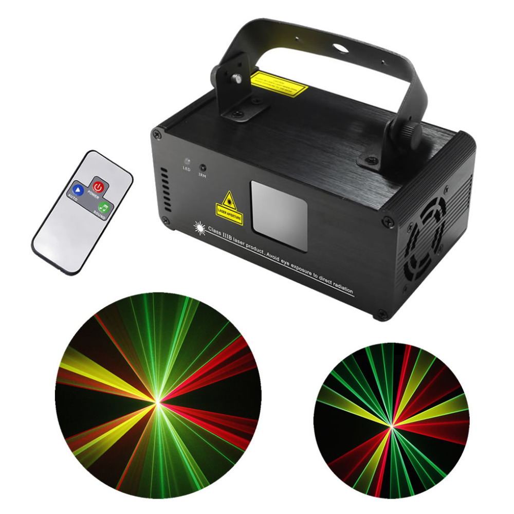 New Arrival SUNY Remote DMX 3D Effect 200mW RGY Laser Show Lighting DJ Party Light DM-RGY200
