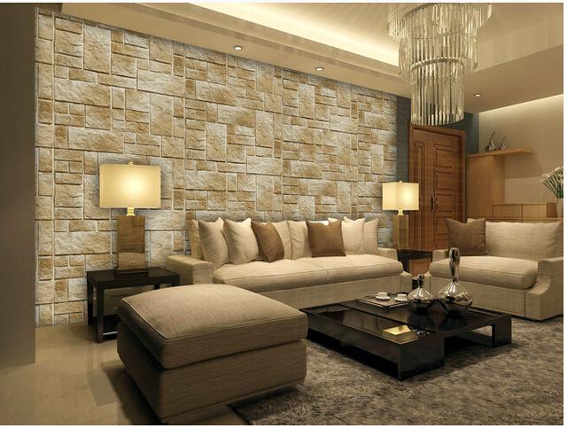 acheter personnalis papier peint r tro vieille brique motif pour le salon tv. Black Bedroom Furniture Sets. Home Design Ideas