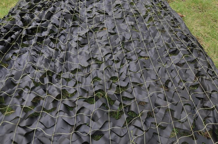 2x3m Black Camouflage Netting Sunshade Oxford Net Blind