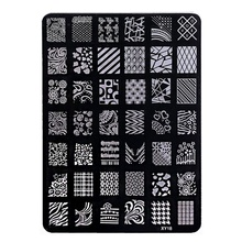 Flower Design Nail art Image Stamp Plates Polish Stamping Manicure Image XY18 Size 14 5cm by