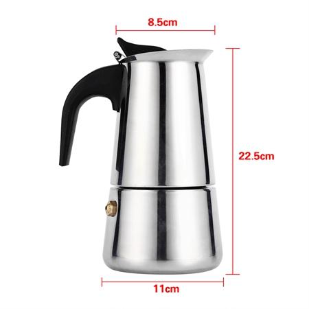 Чайник для кофе из нержавеющей стали, 100 мл, 200 мл, 300 мл, 450 мл(Hong Kong,Китай)