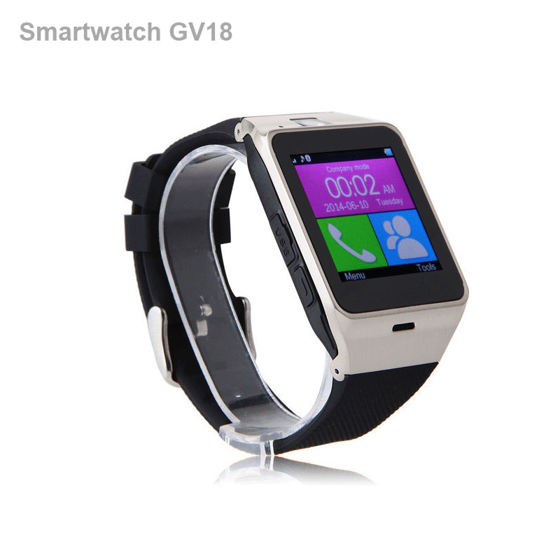 Smart Watch GV18 Arc Clock With Sim Card NFC Bluetooth Connection For Iphone