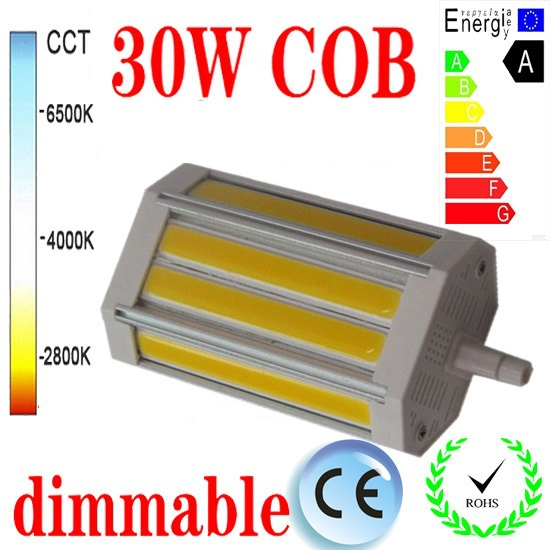 free shipping led cob r7s light 118mm 30w dimmable j118 r7s lamp flood light replace. Black Bedroom Furniture Sets. Home Design Ideas
