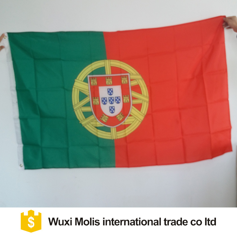 Uefa Euro 2020 100%polyester 3x5 Foot Portugal Flag With