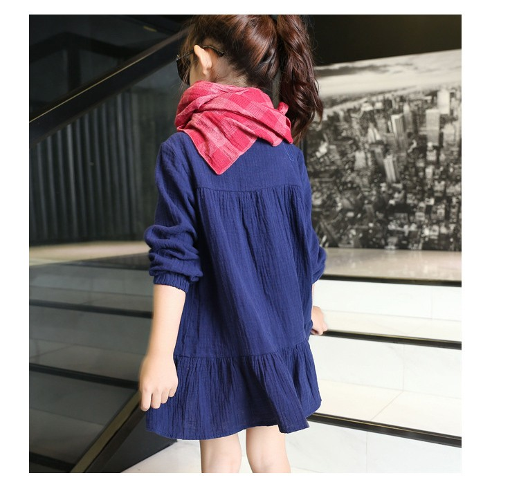 b7f716d7da01 ... school clothes preppy style girl dress embroidery floral little teenage  girls dresses clothes children clothing dresses ...
