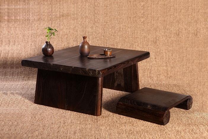 acheter japonais antique table rectangle 80 70 cm paulownia bois traditionnel. Black Bedroom Furniture Sets. Home Design Ideas