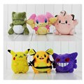 3pcs lot Dedenne Gengar Piakchu audino substitute Clefairy plush stuffed toys dolls free shipping