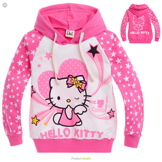 2014 New Autumn Hello Kitty Girls Clothes Long Sleeve