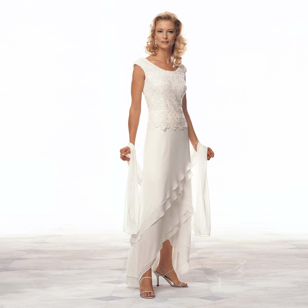 Mother Gown For Wedding: Elegant Long Formal Evening Asymmetry Prom Bridal Gown