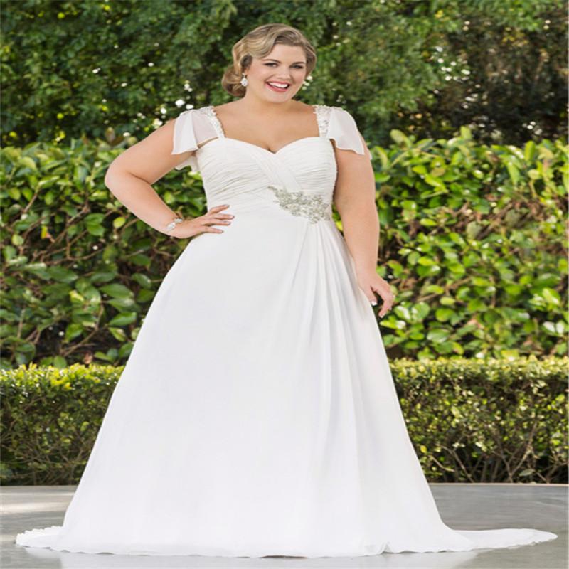 Crystal Design 2016 Wedding Dresses: 2016 Plus Size Wedding Dresses Short Sleeve Crystal Latest