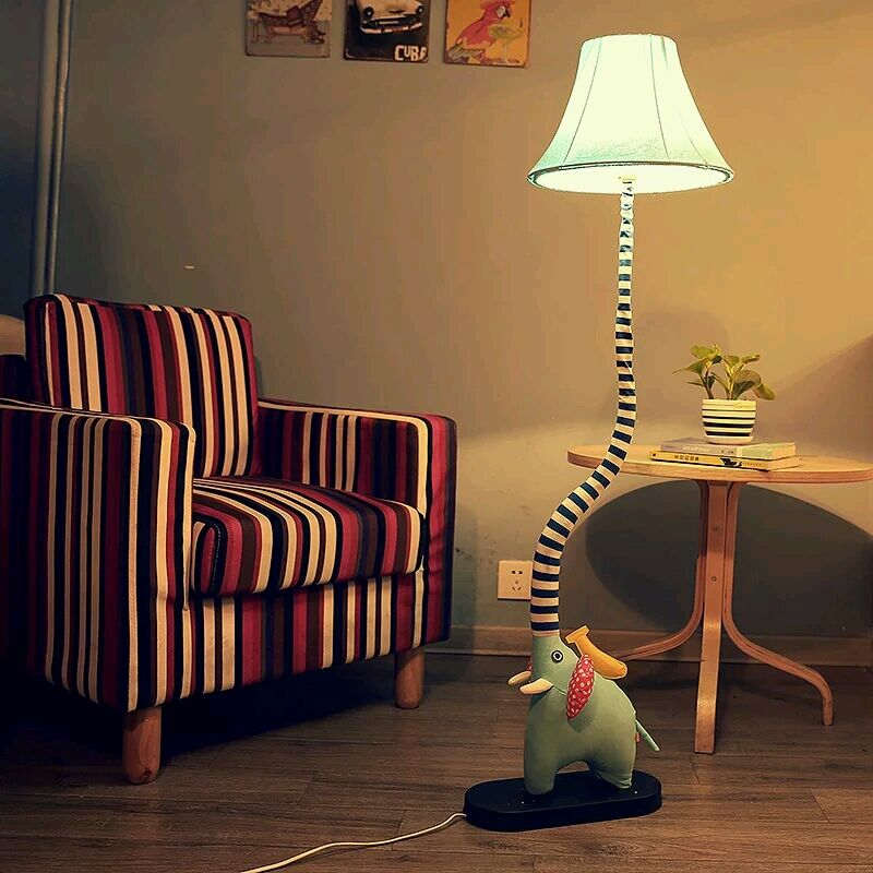 cottage floor lamp cartoon bedroom lights child real rustic fabric led lamp infloor lamps from. Black Bedroom Furniture Sets. Home Design Ideas