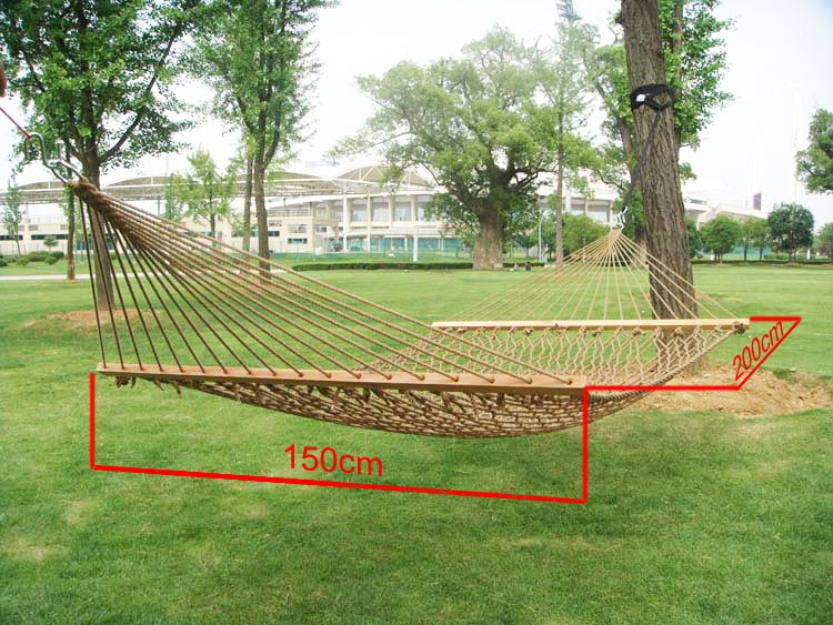Hammocks Alert Gsfy-white Outdoor Mesh Cotton Rope Swing Hammock Hanging On The Porch Or On A Beach Latest Fashion Outdoor Furniture