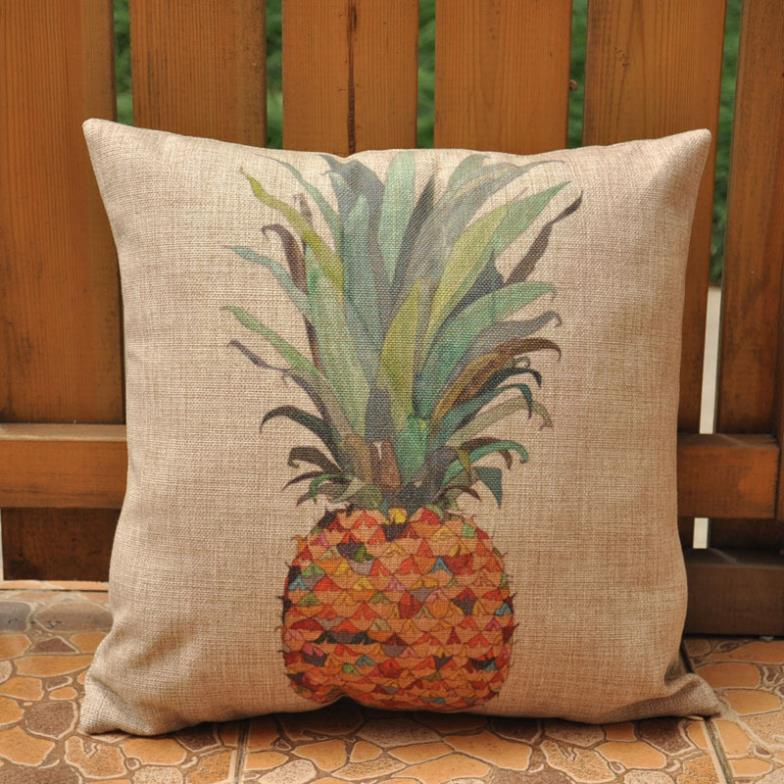 pineapple cushions home decor almofadas decorativas decorative cushion chair cojines sofa throw. Black Bedroom Furniture Sets. Home Design Ideas