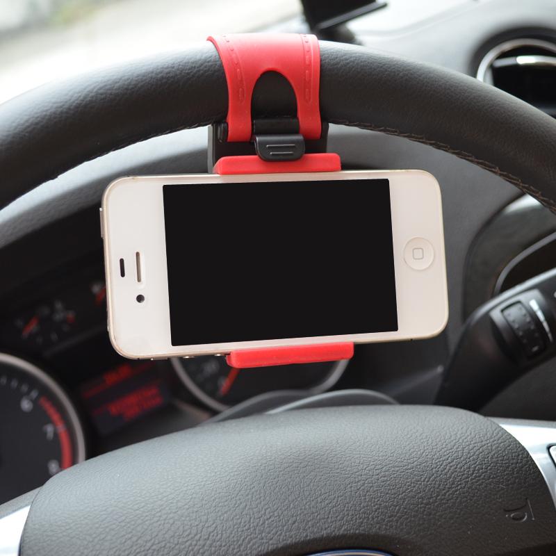Автомобильный держатель руль телефон автомобилей кронштейн резинкой для iPhone 6 плюс 4 5 5S Galaxy S4 S5 GPS HTC MP4 стайлинга автомобилей