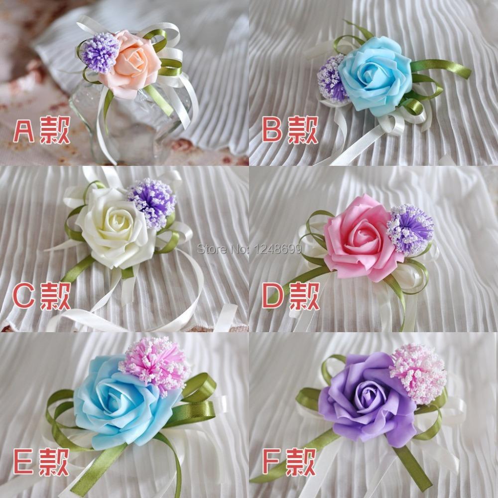 2015 beautiful bridesmaid waist flowers cheap popular romantic wedding bouquet lavender hand. Black Bedroom Furniture Sets. Home Design Ideas
