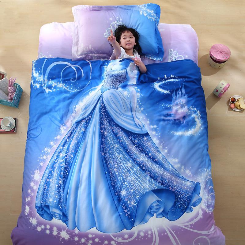 Organic Cotton Brand Designer 3d Bed Linen Cinderella Kids