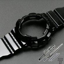 Аксессуары для часов Casio G-SHOCK GD GA110 GA GD100 GD GA120, мужские часы черного, золотого, черного цветов, с полимерным ремешком, чехол для женщин(China)