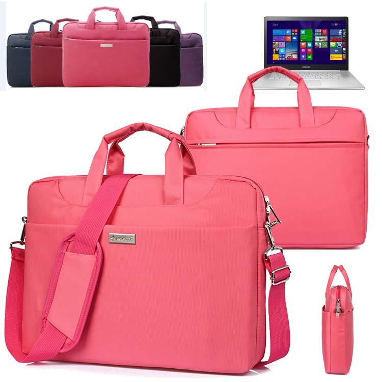 Fashion Nylon Office Ladies Travel Carry Case Laptop Shoulder Bag Briefcase for 15-inch Asus ZenBook NX500/ Pro UX501 15.6'' PC