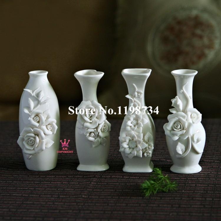 Wedding Gift Vase: Free Shipping! One Piece White Ceramic Vase With Flower