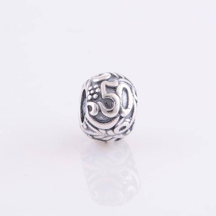 e8170d759 ... 50 pandora charm 50 Birthday Fifty ANNIVERSARY Pandora bead ...