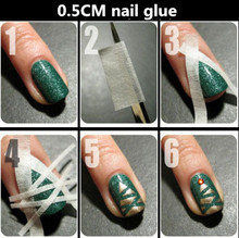 Creative Nail stickers tape masking tape to make nail polish tool pattern effect is awesome 17