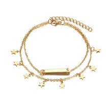 Женский винтажный многослойный ножной браслет в стиле бохо, 17 км, Модный хлопковый ножной браслет ручной работы с цепочкой, вечерние ювелир...(Китай)
