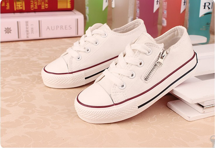 Kids Sneakers 2016 New Spring Lace Up Canvas Shoes for Children Sport Breathable Denim Flat Sneakers