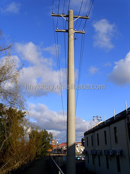 Pushing Method Concrete Street Light Poles Precast