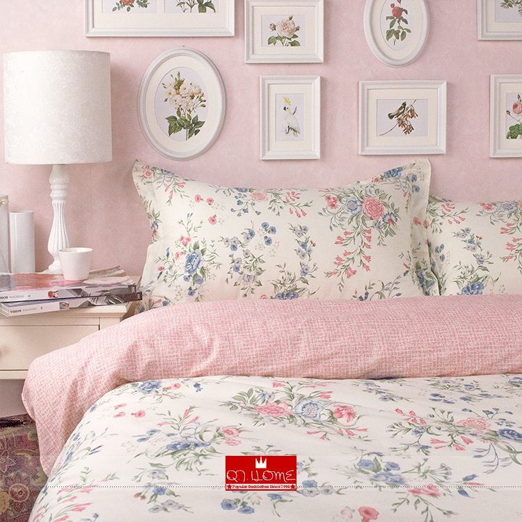 nordic ikea rose literie de belle fleur princesse rustique jeu de housse de couette reine. Black Bedroom Furniture Sets. Home Design Ideas