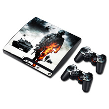 Call of Duty Vinyl Skin Sticker Protector for Sony PS3 Slim PlayStation 3 Slim and 2 controller skins Stickers