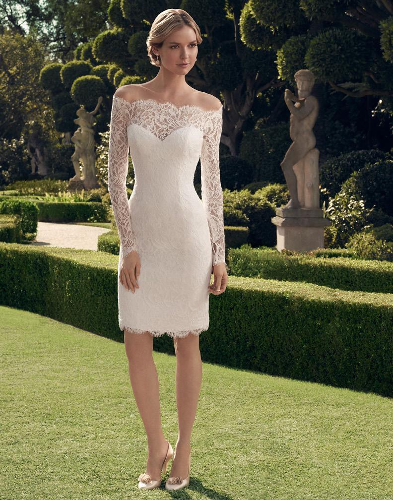 women 2016 long sleeve off shoulder knee length sheath lace short wedding dresses bridal gowns. Black Bedroom Furniture Sets. Home Design Ideas