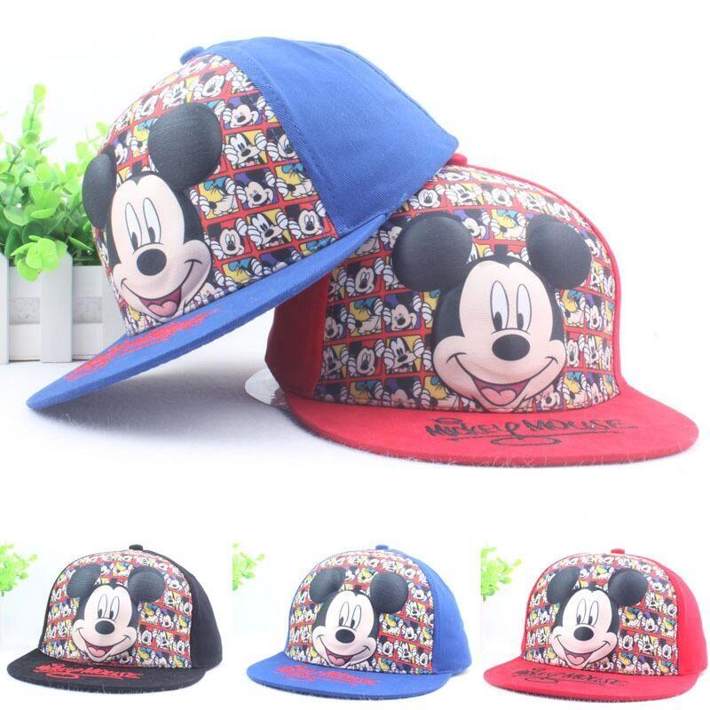 New Fashion Lovely Spring Summer New Boys Girls Children Adjustable Hats Mickey Baseball Hip Hop Cap