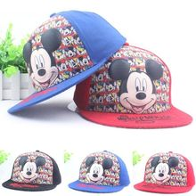 New Fashion Lovely Spring Summer New Boys Girls Children Adjustable Hats Mickey Baseball Hip Hop Cap