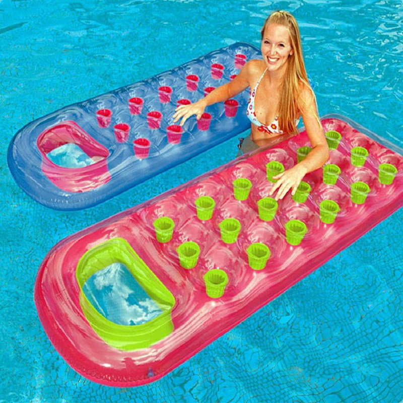 New 2016 Summer Large Inflatable Swimming Pool Water Floats Inflatable Raft Float Bed Float For 8