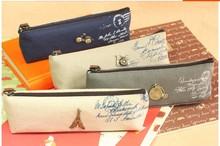 2201 Vintage  pencil case Zipper Pencil Bags  Hot Sale writing case