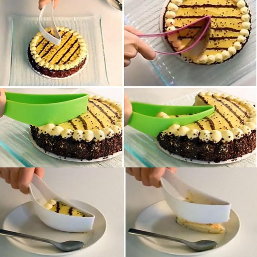 Hot Funny Convenient Practical Home Kitchen Cake Folder Leaf Shape Slicer Cutter Free Shipping