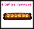 High intensity 10 30V DC 6 3W Led car surface mount grill warning lights lightheads strobe