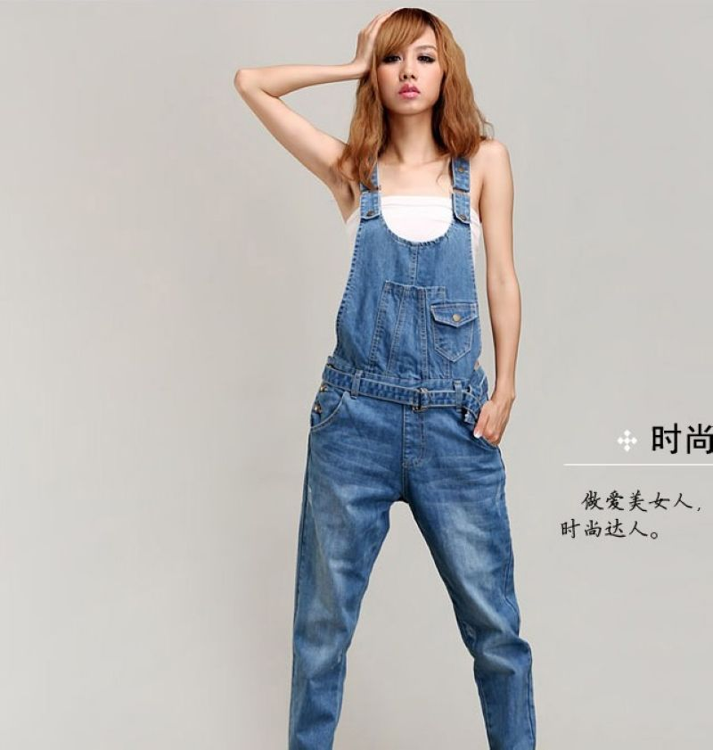 Hot Selling ! New Fashion 2014 Women Denim Jumpsuit ...
