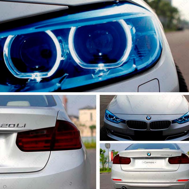 12 цветов 30 см x 100 см авто свет фар оттенок виниловая пленка стикер горячие продаж легко придерживаться весь автомобиль