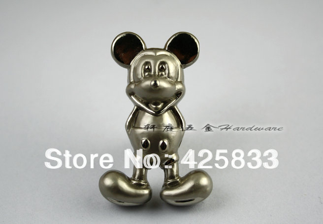 buy 10pcs silver mickey mouse knobs dresser pulls and modern discount kitchen. Black Bedroom Furniture Sets. Home Design Ideas