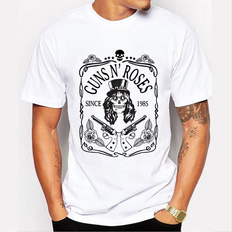Compra Guns n roses camisetas online al por mayor de China