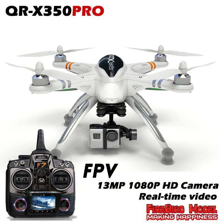 Walkera QR X350 Pro Fpv Drone  RTF Quadcopter,with 13MP 1080P HD Camera,Build