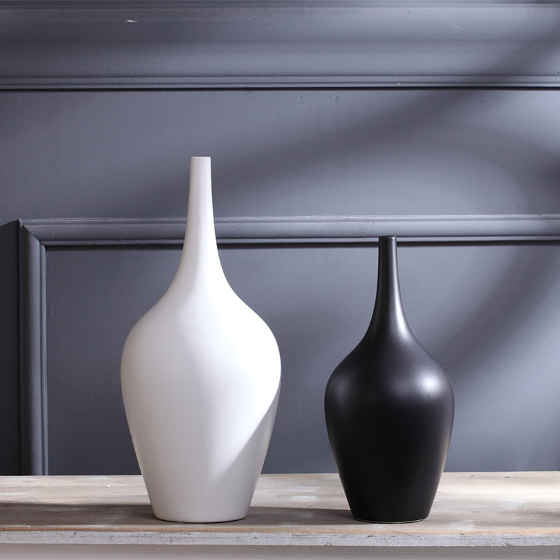 Porcelain Minimalist Black White Vase The Living Room Decoration